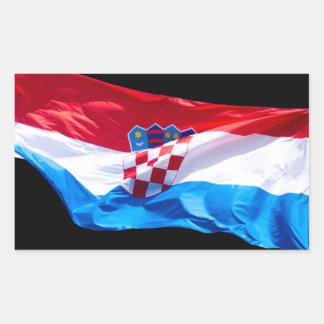 Croatian Flag Rectangular Sticker