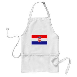 Croatian flag standard apron