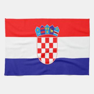 Croatian flag tea towel