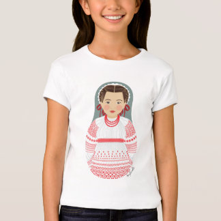 Croatian Girl Matryoshka Girls Baby Doll (Fitted) T-Shirt