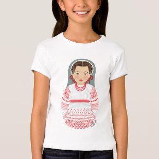Croatian Girl Matryoshka Girls Baby Doll (Fitted) T-shirts