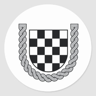 Croatian historic coat of arms classic round sticker