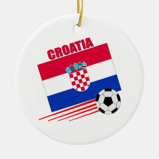 Croatian Soccer Team Ceramic Ornament
