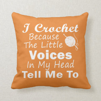 Crochet Because Little Voices Cushion
