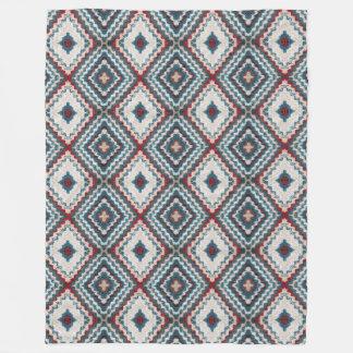 Crochet diamond pattern fleece blanket