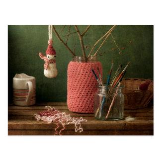 Crochet for Christmas Postcard