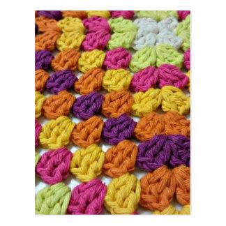 Crochet Granny Square Postcard