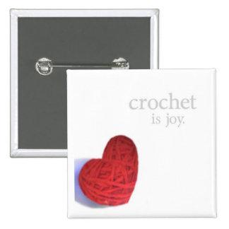 crochet joy button