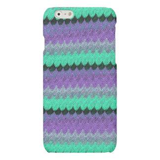 Crochet Knit Purple Mint Black Lilac Waves Scallop