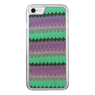 Crochet Knit Purple Mint Black Lilac Waves Scallop Carved iPhone 7 Case