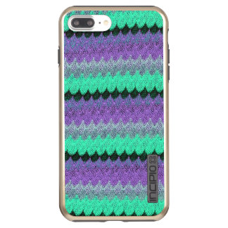 Crochet Knit Purple Mint Black Lilac Waves Scallop Incipio DualPro Shine iPhone 8 Plus/7 Plus Case