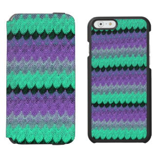 Crochet Knit Purple Mint Black Lilac Waves Scallop Incipio Watson™ iPhone 6 Wallet Case