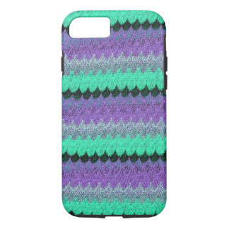 Crochet Knit Purple Mint Black Lilac Waves Scallop iPhone 8/7 Case