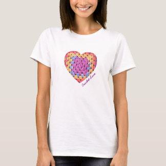 Crochet Love heart t-shirt