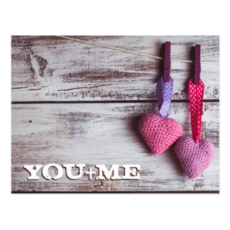 Crochet Lovely Hearts 2 Postcard