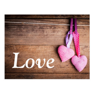 Crochet Lovely Hearts Postcard