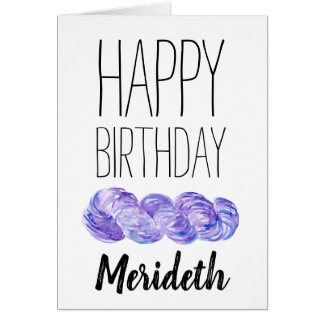 Crochet or Knitting Personalized Birthday Card