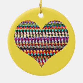 Crochet Ornament - Crochet Heart Ornament