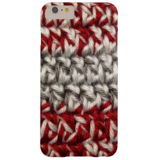 Crochet Red and Gray Barely There iPhone 6 Plus Case
