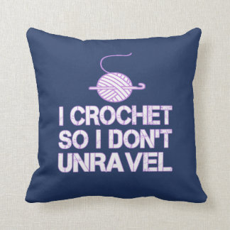 Crochet So I Don't Unravel Cushion