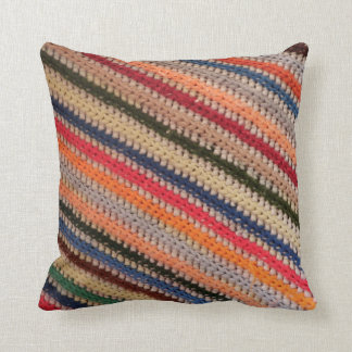 Crochet Stripes Cushion