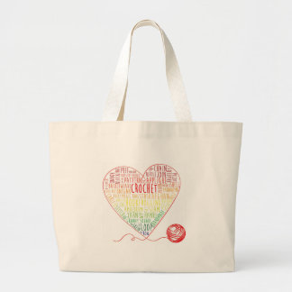 Crochet Words Tote (Large) Bag