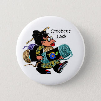 Crochet-y Lady Button