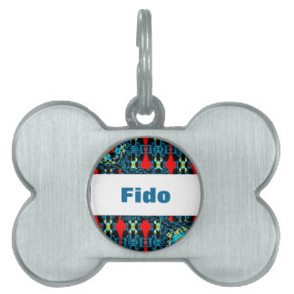 Crocheted Style on Pet/Dog Name Tag Pet Tags