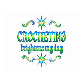 Crocheting Brightens Postcard
