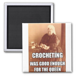 Crocheting Good Enough for the Queen Fridge Magnets