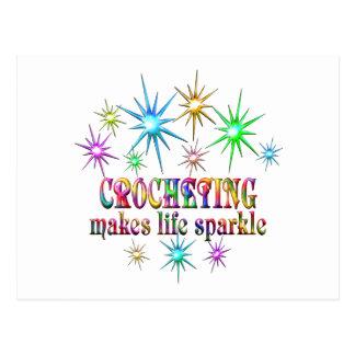 Crocheting Sparkles Postcard