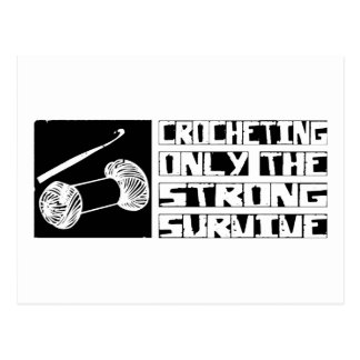 Crocheting Survive Postcard
