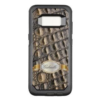 Crocodil Skin Custom Monogram OtterBox Commuter Samsung Galaxy S8 Case