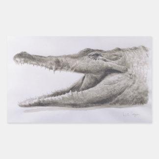 Crocodile 2005 rectangular sticker