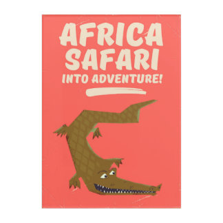 Crocodile Africa Safari poster! Acrylic Print