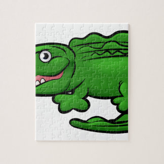 Crocodile Alligator Animal Cartoon Character Jigsaw Puzzle