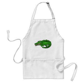 Crocodile Alligator Animal Cartoon Character Standard Apron
