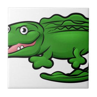 Crocodile Alligator Animal Cartoon Character Tile