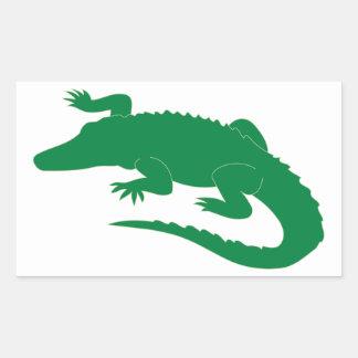 Crocodile Alligator Gator Reptile Rectangular Sticker
