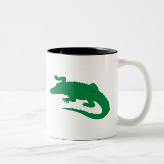 Crocodile Alligator Gator Reptile Two-Tone Coffee Mug