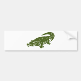 crocodile alligator retro bumper sticker
