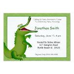 Crocodile Birthday Invitation