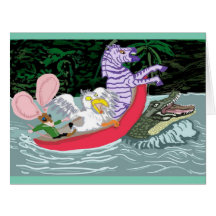 Crocodile Bump Big Greeting Card