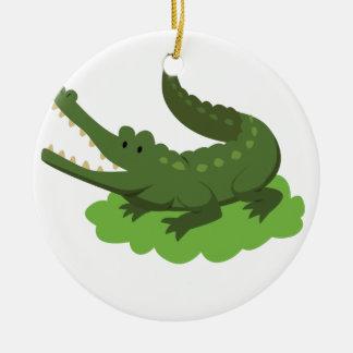 crocodile ceramic ornament