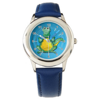 Crocodile hug wrist watch