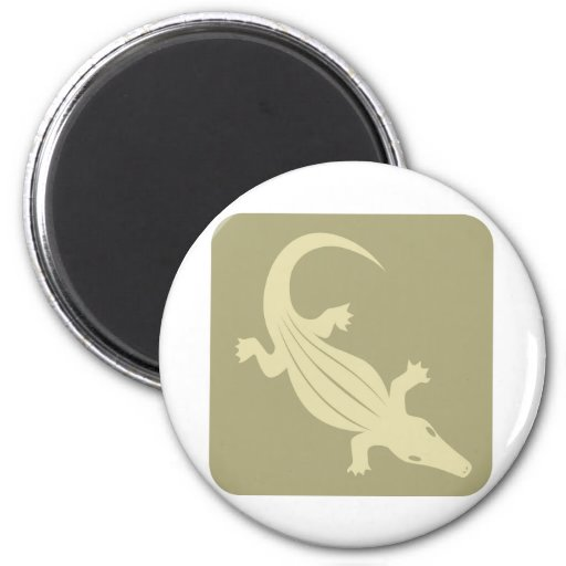 Crocodile Icon Refrigerator Magnets