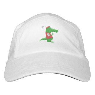 Crocodile playing golf cartoon hat