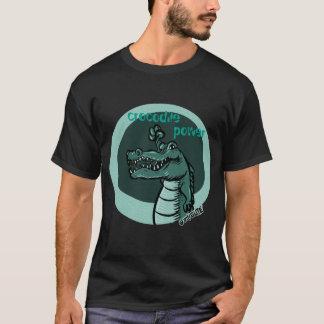 crocodile power blue green T-Shirt