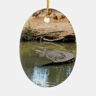 CROCODILE QUEENSLAND AUSTRALIA CERAMIC ORNAMENT
