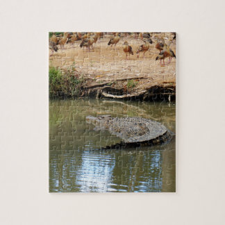 CROCODILE QUEENSLAND AUSTRALIA JIGSAW PUZZLE